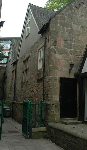 Derby School - The former Derby School Building in St Peter's Church Yard, Derby