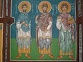 St Cosmas St Damian and St Panteleimon Fresco in the church of St Nicholas in Mramorec.jpg