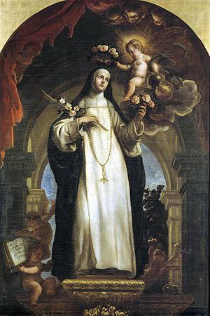 Rose of Lima - Saint Rose of Lima  by Claudio Coello (1642–1693),  in the Prado Museum, Madrid, Spain