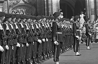 Grenadiers' and Rifles Guard Regiment - Garderegiment Jagers during the state visit of King Baudouin in 1959