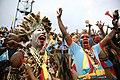 Stade National Amahoro, Kigali, Rwanda - des supporteurs congolais laissent éclater leur joie lors de la finale du CHAN qui opposait la RD Congo au Mali ce dimanche 8 février. (24866284806).jpg