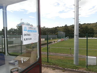 Stade Rue de Lenningen - Stade Rue de Lenningen ticketbooth, Canach, Luxembourg