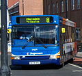 Stagecoach bus 34609 Dennis Dart SLF Transbus Pointer NK04 NPU in South Shields 9 May 2009.jpg