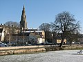 Stamford, St Mary's spire from Town Meadows - geograph.org.uk - 1753795.jpg