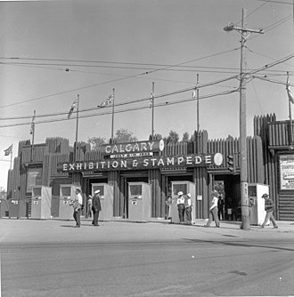 Calgary Stampede - Stampede grounds, 1953