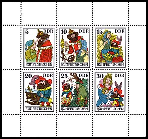 Rumpelstiltskin - Stamp series on Rumpelstilzchen from the Deutsche Post of the GDR, 1976