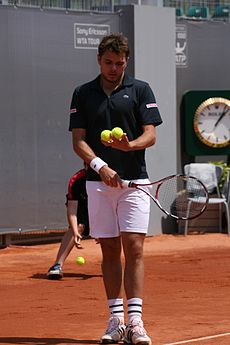 Stanislas Wawrinka at the 2009 Mutua Madrileña Madrid Open 03.jpg