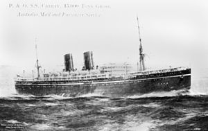 SS Cathay (1924) - Image: State Lib Qld 1 126171 Cathay (ship)