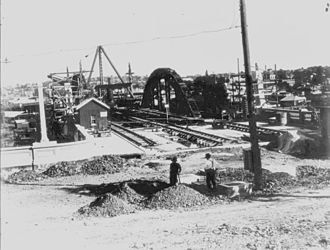 William Jolly Bridge - Construction of the William Jolly Bridge, Brisbane, c. 1931
