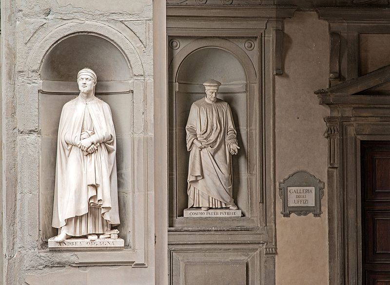 File:Statues in Niches Outside the Uffizi Gallery, Florence.jpg