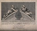 "Statues of ""raving"" and ""melancholy"" madness, each reclining Wellcome V0013192.jpg"
