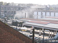 Steam train departing York station (2).JPG