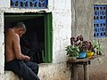 Still Life with Man and Flowers - Balgue - Ometepe Island - Nicaragua (30987086643).jpg