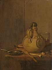 Still Life with Stoneware Jug and Pipes