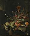 Stilleven met vruchten en een bokaal op hanenpoot Rijksmuseum SK-A-269.jpeg