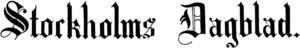 Stockholms Dagblad - Image: Stockholms Dagblad