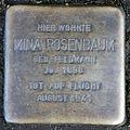 Stumbling block for Mina Rosenbaum (Alexianerstraße 23)