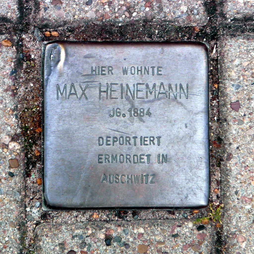 Stolperstein Max Heinemann