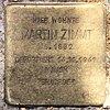 Stolperstein Cunostr 109 (Schmd) Martin Zimmt.jpg