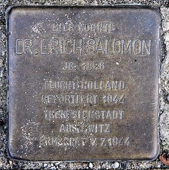 Erich Salomon - Stolperstein Erich Salomon
