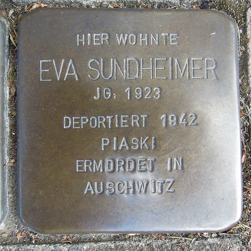 Stolperstein für Eva Sundheimer