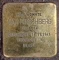 Stolperstein Jagowstr 44 (Moabi) Max Hirschberg.jpg