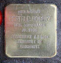 Photo of Gertrud Bobert brass plaque