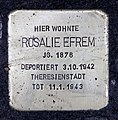 Stolperstein Moselstr 9 (Fried) Rosalie Efrem.jpg