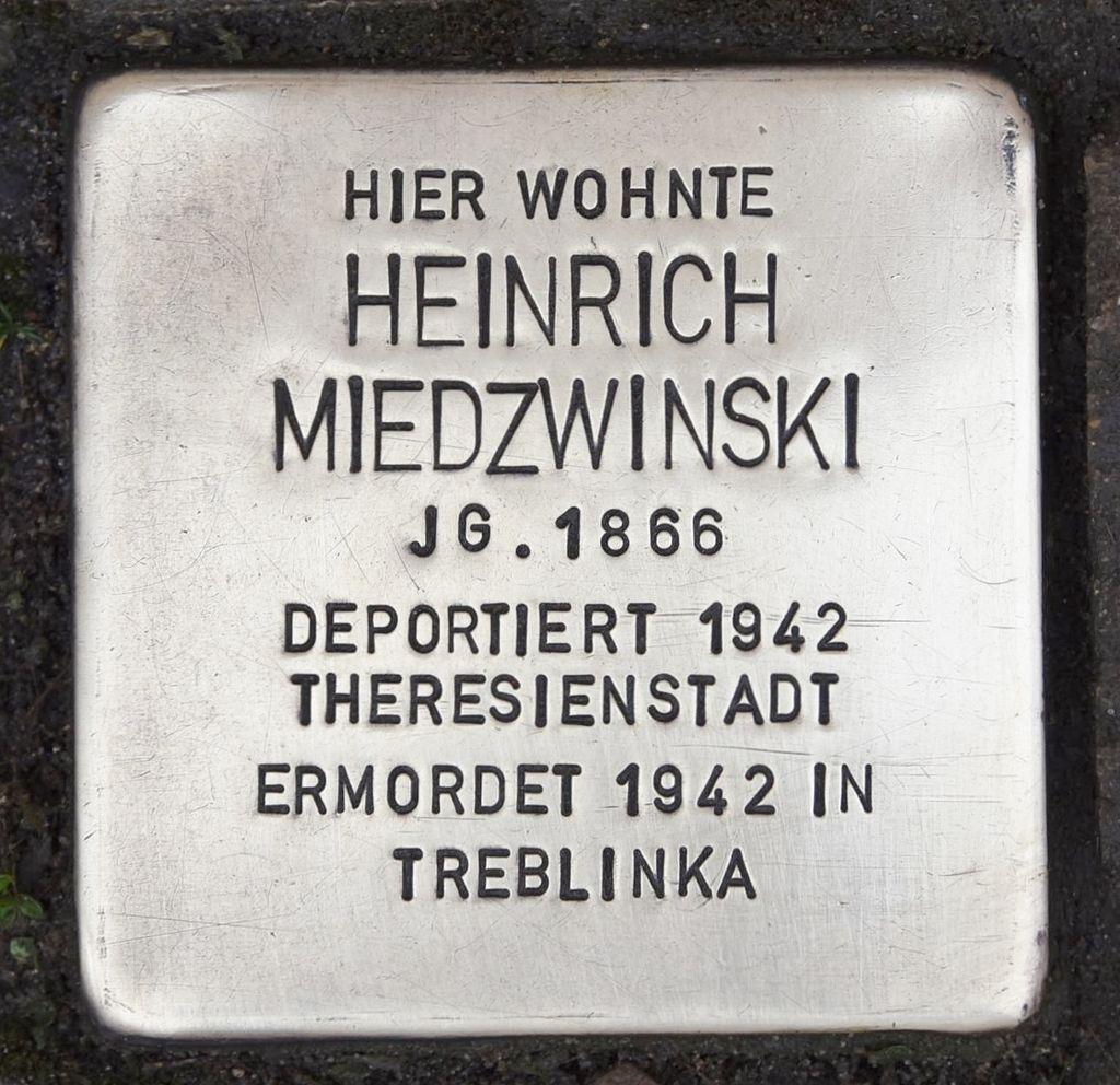 Stolperstein für Heinrich Miedzwinski.JPG