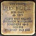 Stolpersteine Köln, Alice Brünell (Brüsseler Straße 83).jpg
