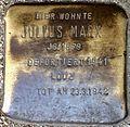 Stumbling block for Julius Marx (Alteburger Straße 11)