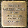 Stolpersteine Krefeld, Valentin Davids (Kölner Straße 544).jpg