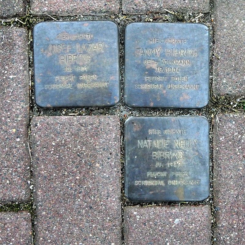 Stolpersteine für Familie Bibring, Goldbornstrasse 22, Roßwein (1).JPG