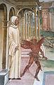 Storie di s. benedetto, 13 sodoma - Come Benedetto libera uno monaco indemoniato percuotendolo 04.JPG
