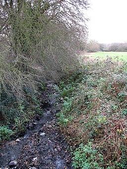 Stream and Farmland - geograph.org.uk - 957029