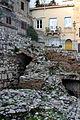 Street passing through the ancient Roman odeon - Taormina - Italy 2015 (2).JPG