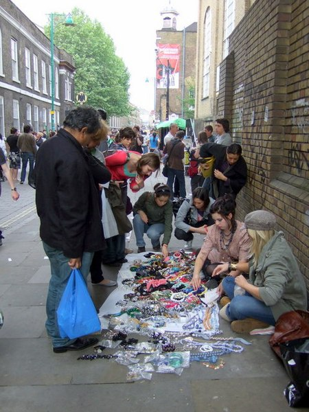 File:Street sellers, Brick Lane - geograph.org.uk - 820029.jpg