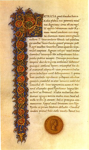 The Twelve Caesars - Manuscript of De vita Caesarum, 1477