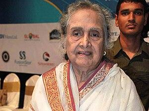 Sulochana Latkar - Sulochana at the Dada Saheb Phalke Academy Awards, 2010