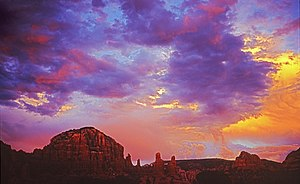 Sunset over the Red Rocks of Sedona