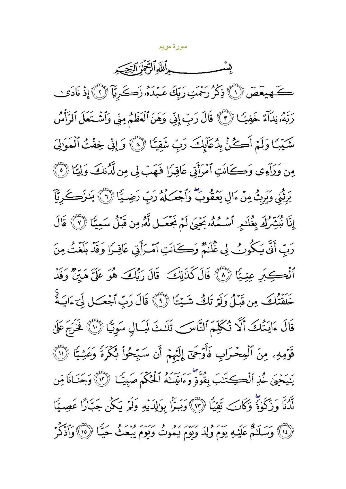 Surat Maryam Wikipèdia Bahsa Acèh ènsiklopèdia Bibeuëh