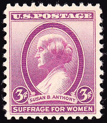 English: US Postage stamp, Susan B. Anthony, 1...