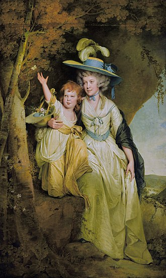 Richard Arkwright - Susannah Arkwright, Mrs Charles Hurt (1762–1835) and her daughter Mary Anne (Joseph Wright of Derby)