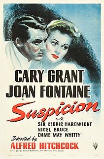 <i>Suspicion</i> (1941 film) 1941 American film by Alfred Hitchcock