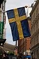Swedish flag in Stockholm.jpg