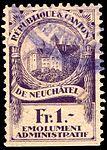 Switzerland Neuchâtel 1921 revenue 1 1Fr - 6D.jpg