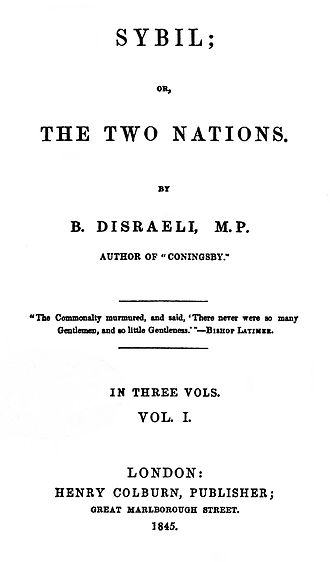 Sybil (novel) - First edition title page