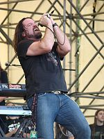 Frontman Russell Allen performing in Novara, 2007