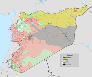 Syrien Karte Krieg.Chronik Des Bürgerkriegs In Syrien 2015 Wikipedia