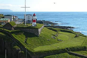 Tórshavn - Skansin has been rebuilt several times since it was first built in 1580. The current building dates back to 1790
